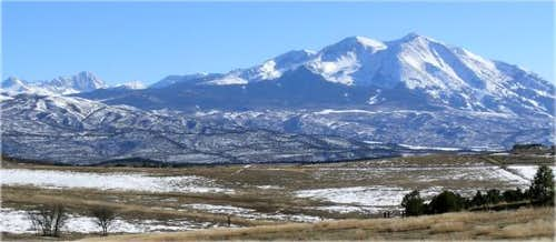 Mount Sopris is the prominent...