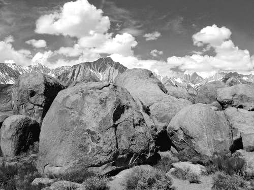 Lone Pine crest from the Alabama Hills