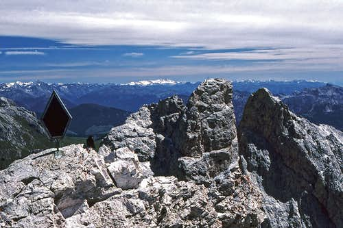 On the summit of Sass Rigais....