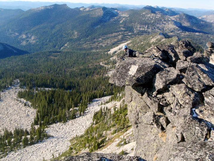 Harrison Peak Overhanging Summit