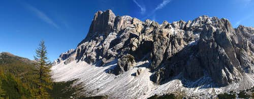 Civetta group seen from Col Mandro.