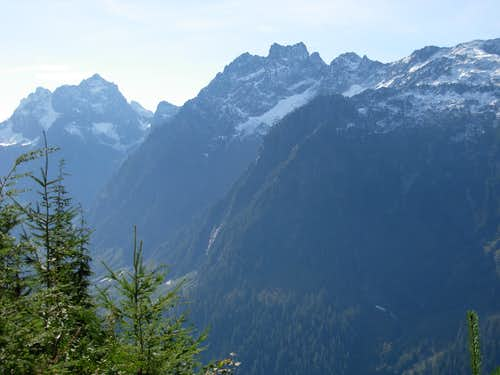 Merchant Peak and Gunn Peak