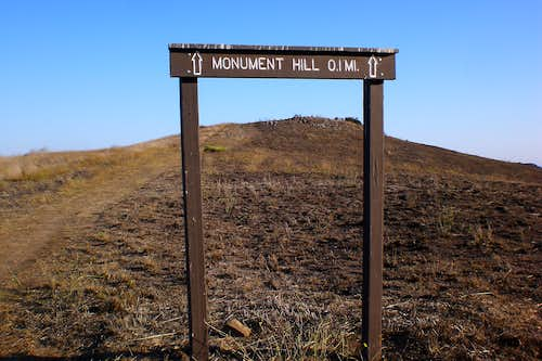 Monument Hill Sign