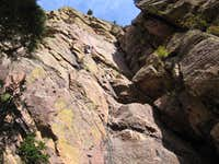 Icarus (5.6) - Eldorado Canyon - Oct 3, 2008