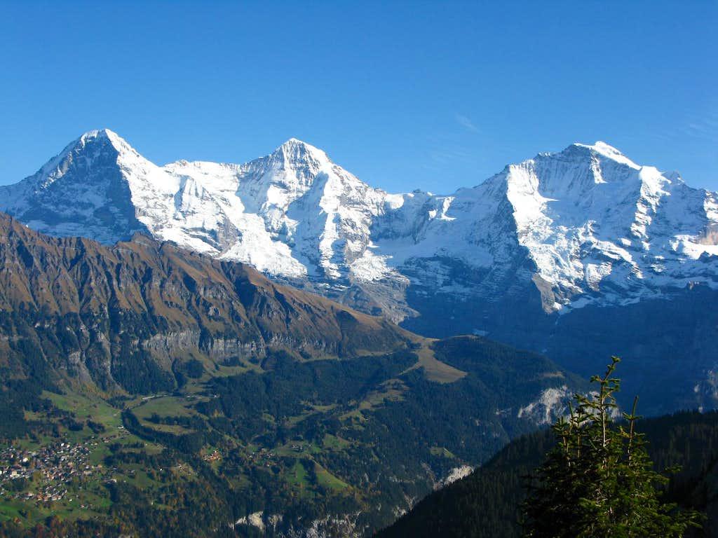 Eiger 3970m - Mönch 4107m - Jungfrau 4158m