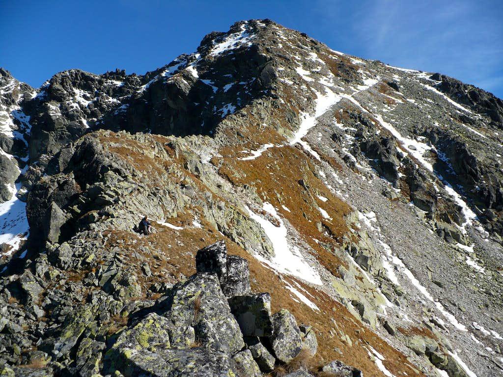 Furkotský štít (2405 m) from the Furkotské saddle (2277 m)