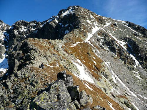 Furkotský štít (2405 m) from the Furkotské saddle (2277 m)