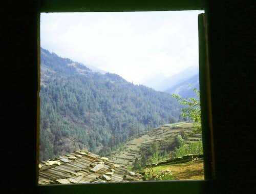 Room with a view to the Himalayan foothills!