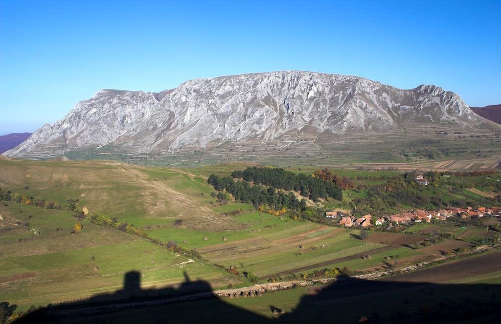 Székelykő from the Szentgyörgy castle