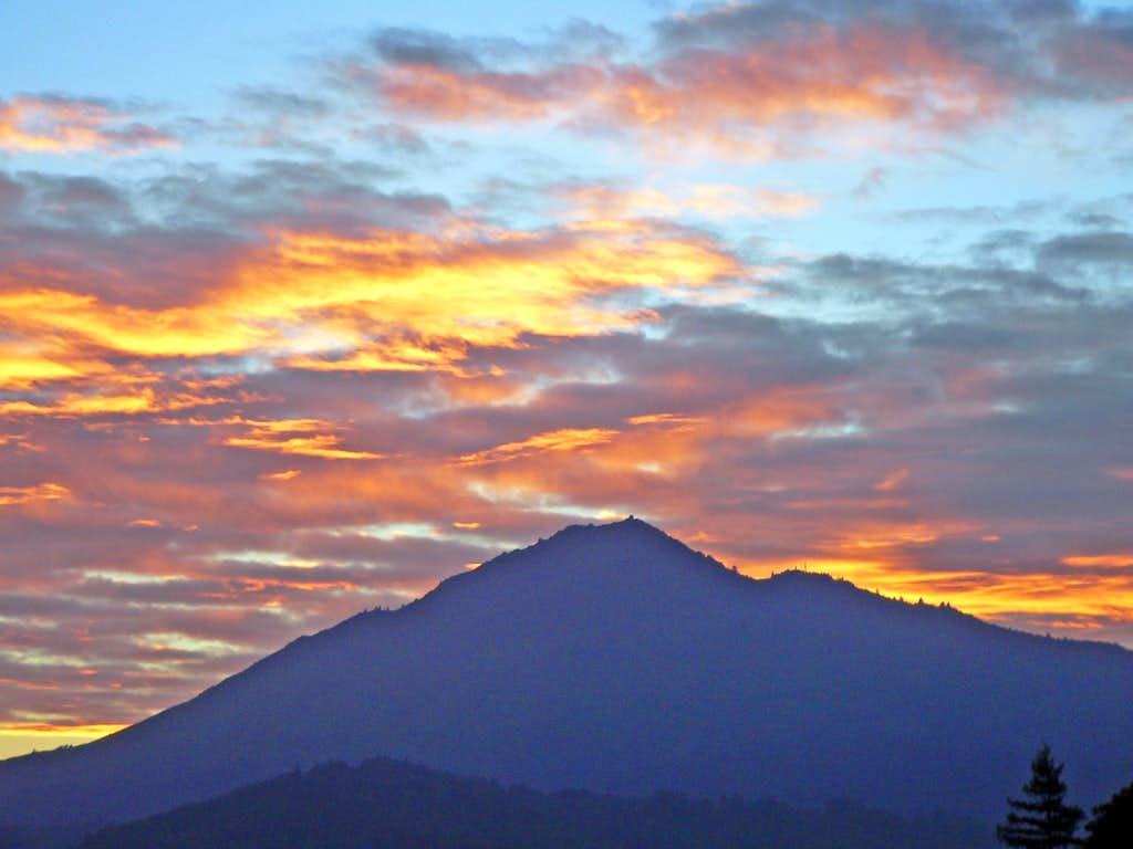 Sunset over Mt. Tam