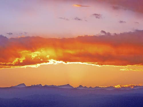 Sunset over Mt. Whitney from Towne Pass
