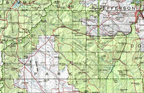 North Tarryall Peak Area Map