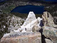 Crystal Crag and lake