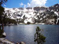 Lake below crag