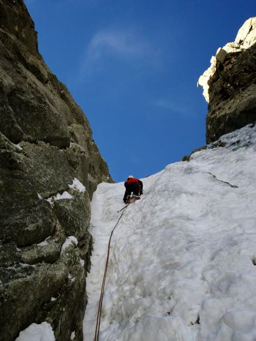 Climbing the Albinoni-Gabarrou couloir