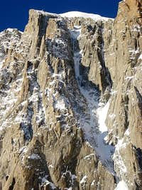 Close up of the Albinoni-Gabarrou couloir
