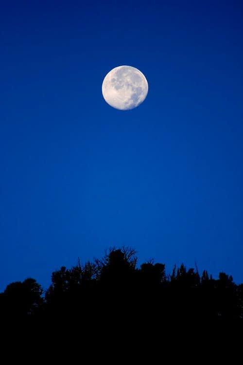 Moon over Mt. Evergreen.