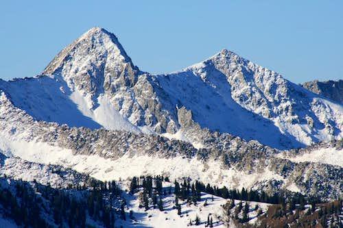 Alpine Ridge viewed from Twin Lakes Pass.