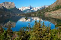 REFLECTIONS ON UPPER SAINT MARY'S LAKE-GLACIER NATIONAL PARK-MT