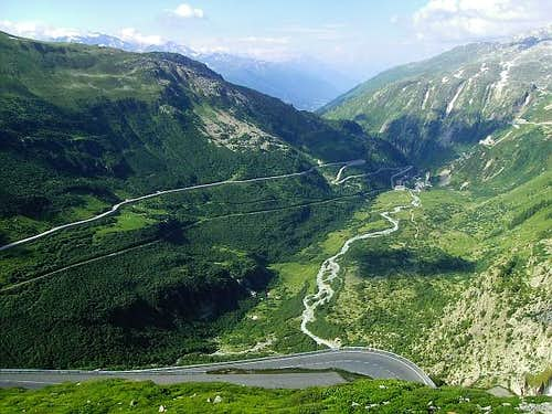 From road to Furka Pass