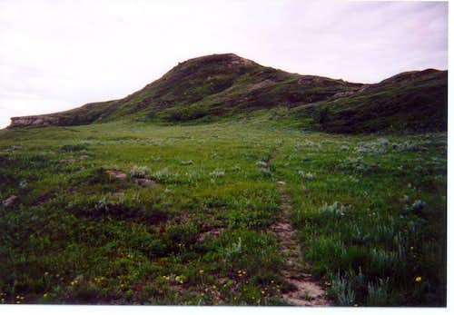 View of White Butte's summit promontory