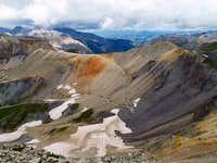 Imogene Pass from Telluride Peak