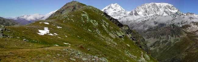Pointe des Lancerandes <i>2776m </i><br> from Col des Chevaux <i>2716m</i>