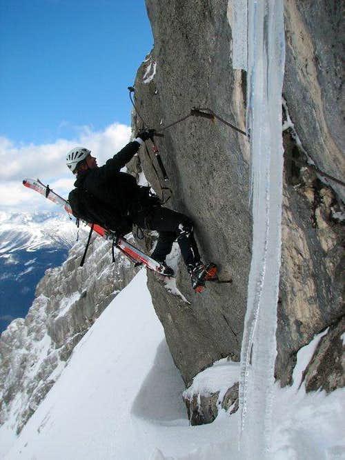 Foster at the begining Bert - Rinesch Klettersteig