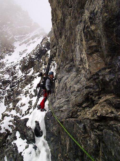 Fogliczech is climbing Hintergrat..;)