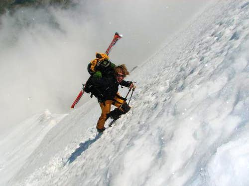 Martin ascendi on Orlter Glacier