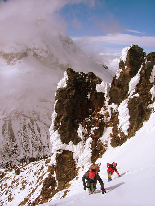 Approaching to the base of the summit.