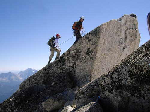 Summiting the West Ridge
