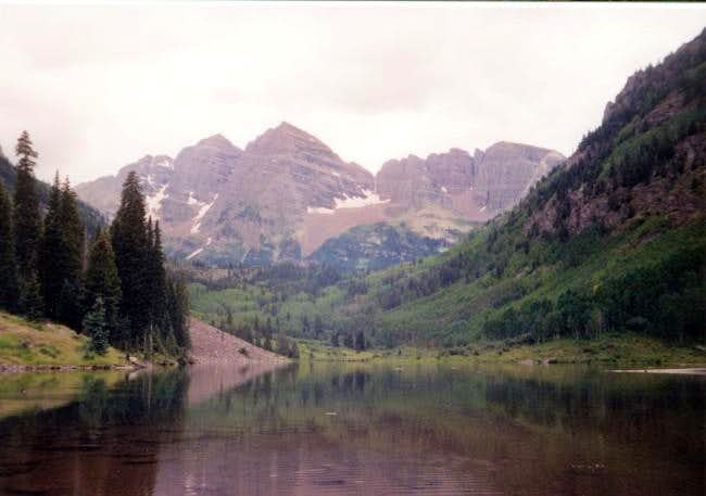 The Maroon Bells on a lovely...