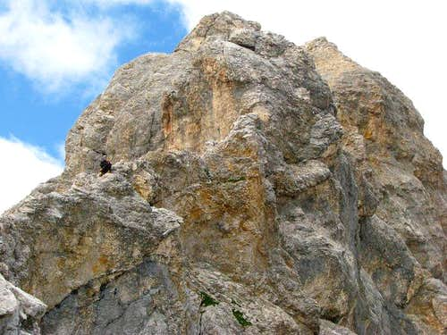 One of Hollental Spitzen and climbing vogel.