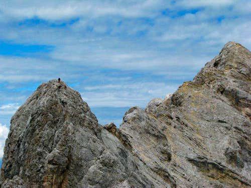 Descending to Gratthuttl from Hollental Spitzen