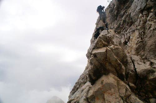 Climbing arount Hochblassen on the way to Alpspitze