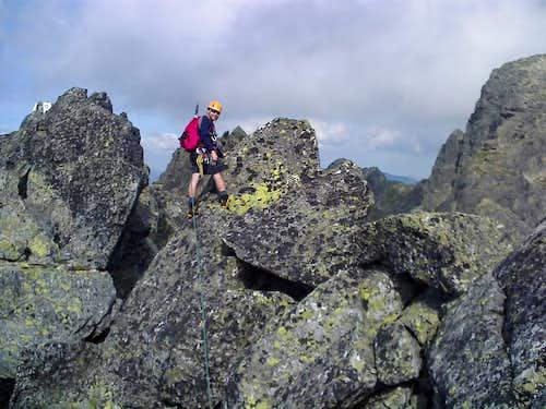 Summit ridge of  Mieguszowiecki Szczyt Posredni