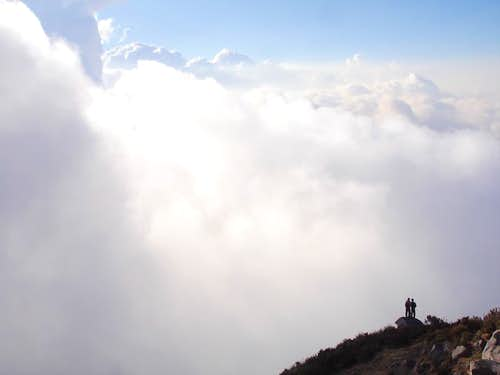 Two climbers on Santa Maria