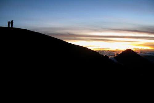 Acatenango during sunrise