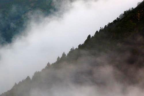 Morning Mist on Acatenango