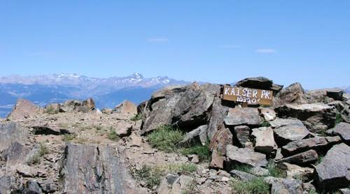 Kaiser Peak summit cairn