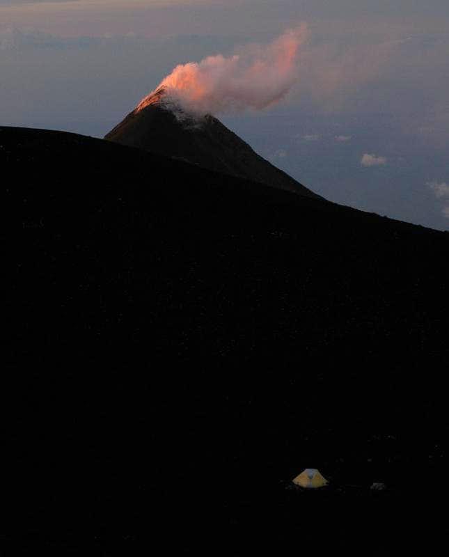 Campiste on Acatenango