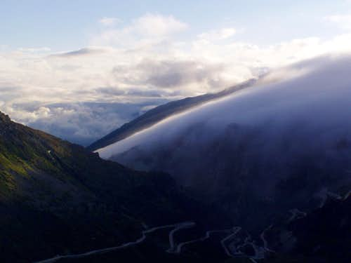 Looking back from Furka pass