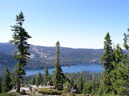 View of Huntington Lake along...