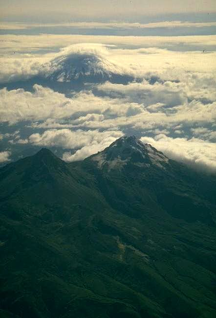 Cotopaxi from the plane