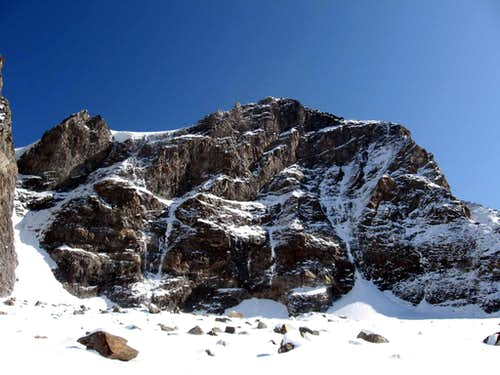 The west wall of Piz d'Argent.