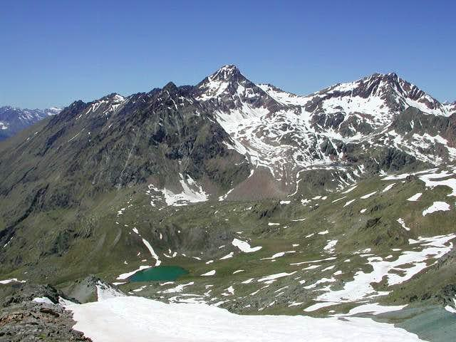 punta Garin, col Valaisan  and punta Rossa