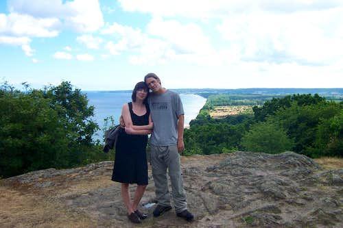Me and Dorota on Stenshuvud