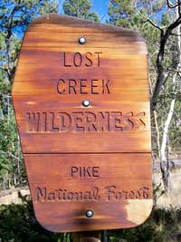 Entering the Lost Creek Wilderness
