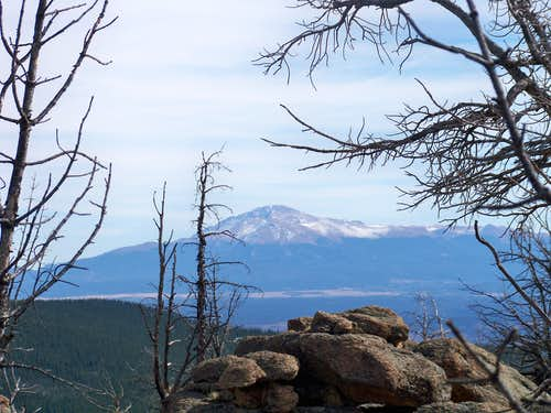 Pikes Peak from the summit of South Tarryall Peak